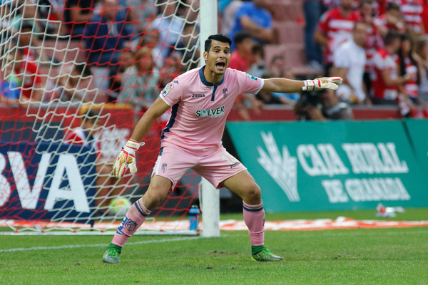Andrés Fernández Moreno, goalkeeper of Granada CF during the La Liga match at Estadio Nuevo Los Cármenes, Granada Picture by Andy Zakeli/Focus Images Ltd +34 651848516 03/10/2015