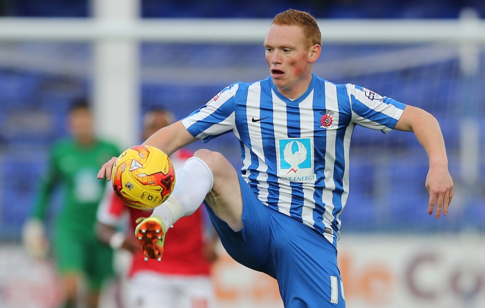 Michael Woods of Hartlepool United during the Sky Bet League 2 match at Victoria Park, Hartlepool Picture by Simon Moore/Focus Images Ltd 07807 671782 01/11/2014