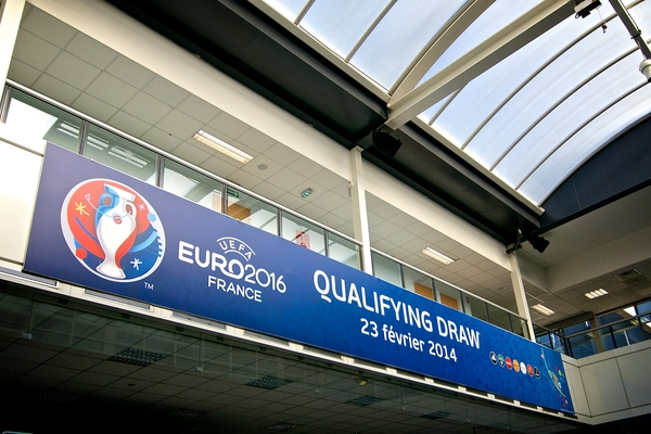 National team coaches and officials arrive in Nice for the Eurocopa sorteo 2016 Draw