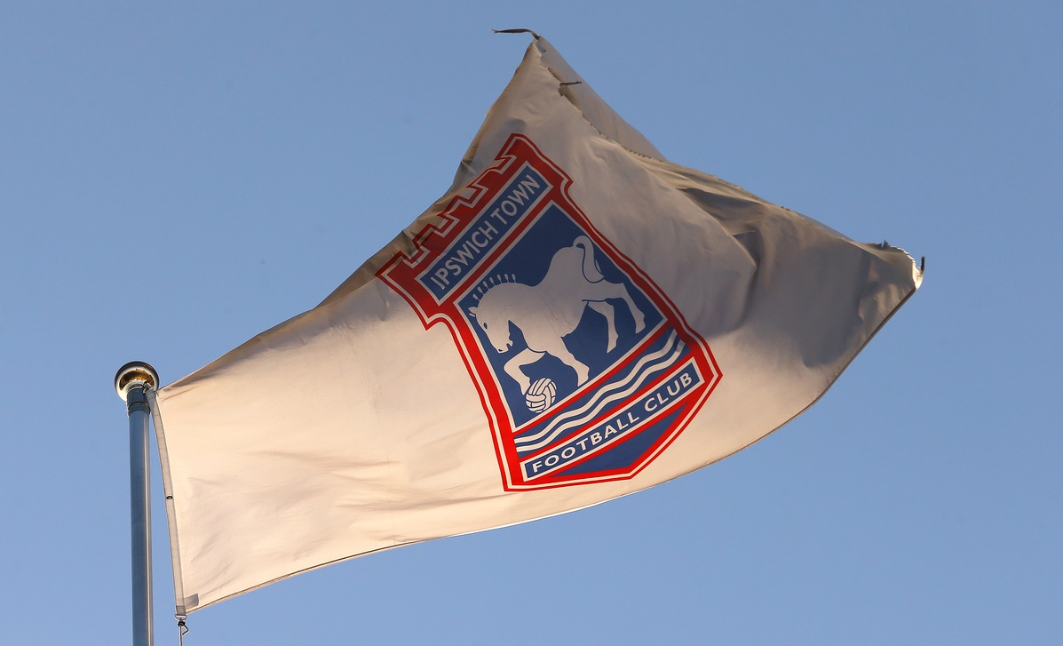 Club crested flag at the stadium before the Sky Bet Championship match at Portman Road, Ipswich Picture by Richard Calver/Focus Images Ltd +44 7792 981244 14/04/2015