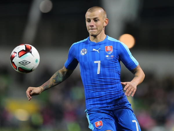 Vladimir Weiss of Slovakia during the International Friendly match at the Aviva Stadium, Dublin Picture by Lorraine O'Sullivan/Focus Images Ltd +353 872341584 29/03/2016