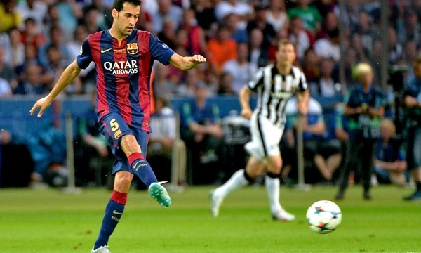 Sergio Busquets of FC Barcelona during the UEFA Champions League Final at Olympiastadion Berlin, Charlottenburg-Wilmersdorf Picture by Ian Wadkins/Focus Images Ltd +44 7877 568959 06/06/2015