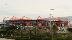 General views of Karaiskakis Stadium, Piraeus, Athens. Picture by Tom Smith/Focus Images Ltd 07545141164 24/02/2014