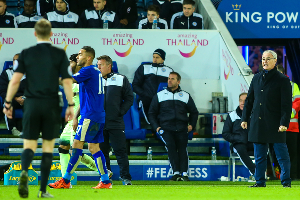 Leicester City manager Claudio Ranieri (right) during the Barclays Premier League match at the King Power Stadium, Leicester Picture by Andy Kearns/Focus Images Ltd 0781 864 4264 29/12/2015