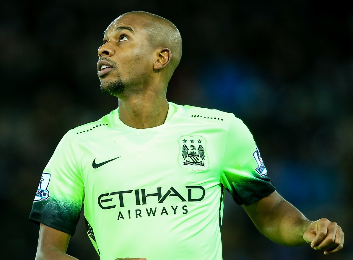 Fernandinho of Manchester City during the Barclays Premier League match at the King Power Stadium, Leicester Picture by Andy Kearns/Focus Images Ltd 0781 864 4264 29/12/2015