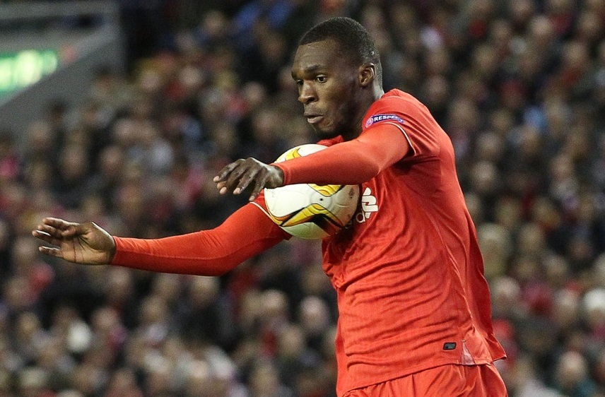 Christian Benteke of Liverpool in action against Rubin Kazan during the UEFA Europa League match at Anfield, Liverpool. Picture by Michael Sedgwick/Focus Images Ltd +44 7900 363072 22/10/2015