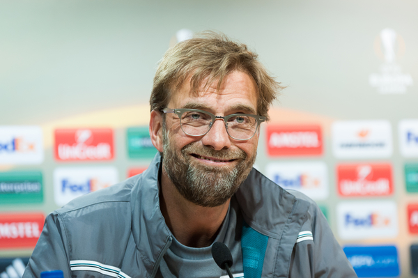 Jurgen Klopp during the Liverpool press conference at Estadio El Madrigal, Villarreal Picture by Maria Jose Segovia/Focus Images Ltd +34 660052291 27/04/2016