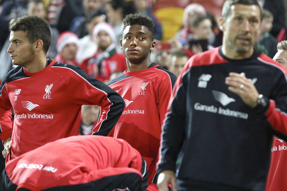 Joe Gomez during the Liverpool training session at Brisbane Stadium, Brisbane Picture by Steven Gibson/Focus Images Ltd +61 413 768835 16/07/2015