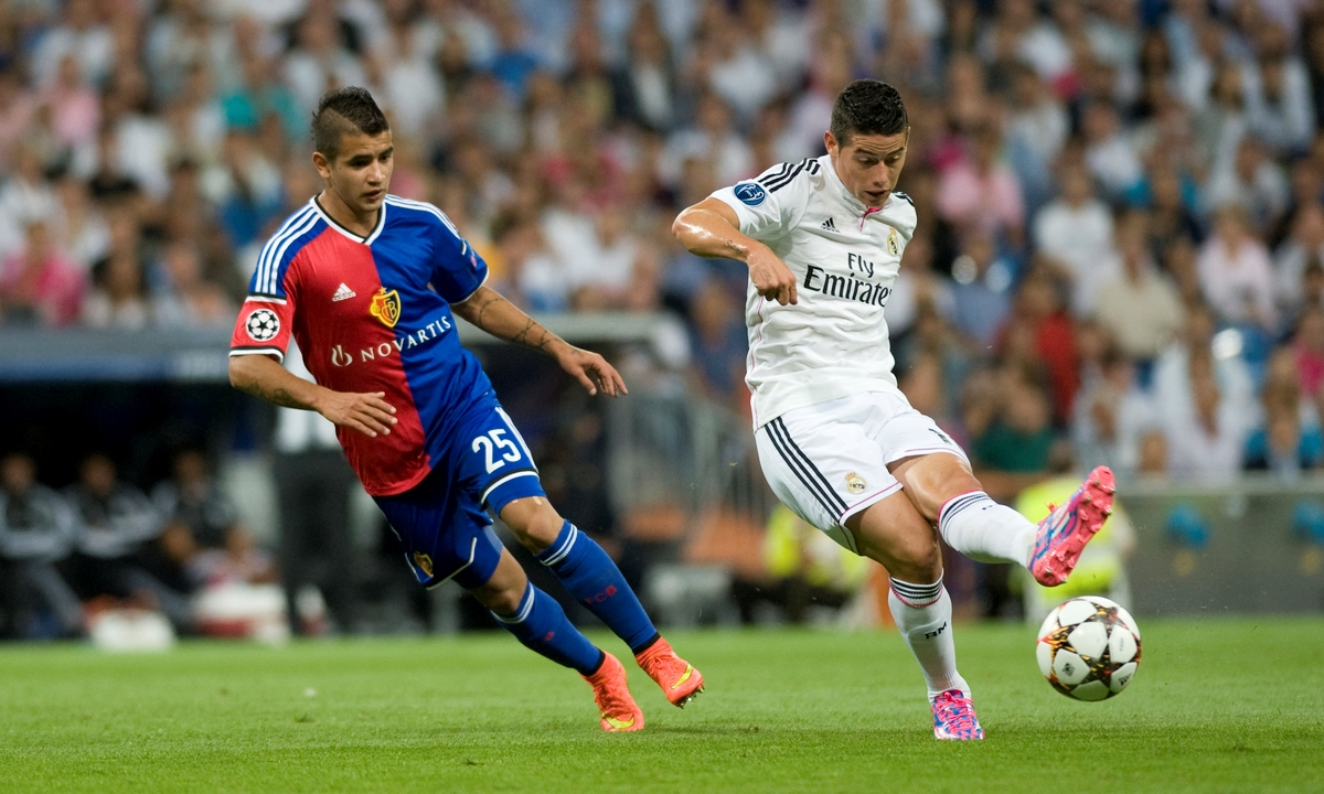 Real Madrid James focus