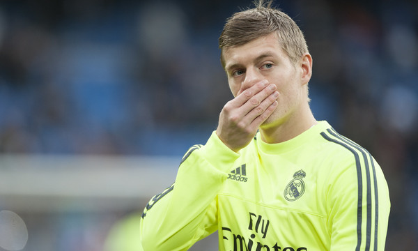 Toni Kroos of Real Madrid during the La Liga match at the Estadio Santiago Bernabeu, Madrid Picture by Marcos Calvo Mesa/Focus Images Ltd +34 654142934 20/12/2015