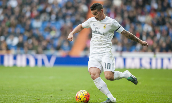 James Rodriguez of Real Madrid during the La Liga match at the Estadio Santiago Bernabeu, Madrid Picture by Marcos Calvo Mesa/Focus Images Ltd +34 654142934 20/12/2015