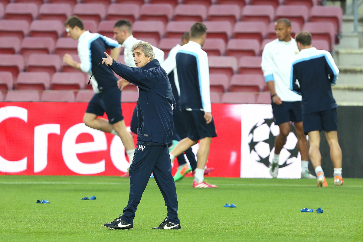 Pellegrini Manchester City Camp Nou Focus
