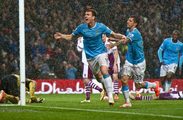Manchester City Dzeko Focus