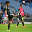 Juan Cuadrado of Juventus warms up aduring the UEFA Champions League match at the Etihad Stadium, Manchester Picture by Ian Wadkins/Focus Images Ltd +44 7877 568959 15/09/2015
