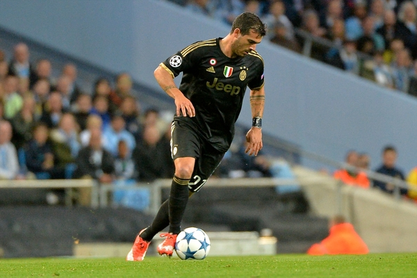 Stefano Sturaro of Juventus during the UEFA Champions League match at the Etihad Stadium, Manchester Picture by Ian Wadkins/Focus Images Ltd +44 7877 568959 15/09/2015