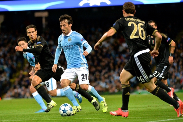David Silva of Manchester City during the UEFA Champions League match at the Etihad Stadium, Manchester Picture by Ian Wadkins/Focus Images Ltd +44 7877 568959 15/09/2015