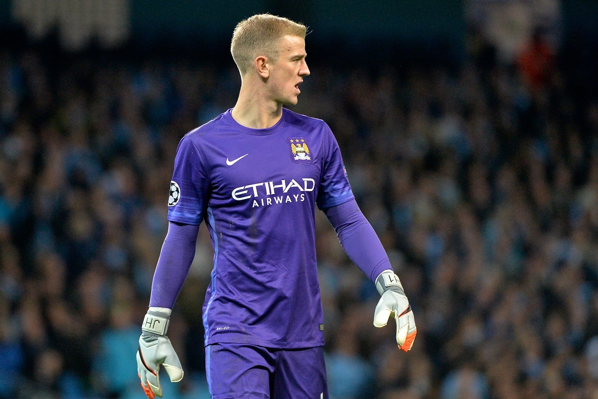 Manchester City goalkeeper Joe Hart during the UEFA Champions League match at the Etihad Stadium, Manchester Picture by Ian Wadkins/Focus Images Ltd +44 7877 568959 15/09/2015