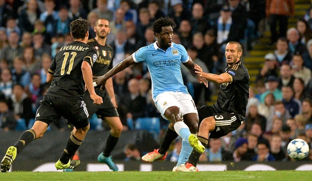 Wilfried Bony of Manchester City during the UEFA Champions League match at the Etihad Stadium, Manchester Picture by Ian Wadkins/Focus Images Ltd +44 7877 568959 15/09/2015