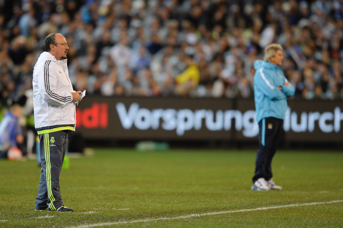 Rafael Benitez coach of Real Madrid looks on during the International Champions Cup match at Melbourne Cricket Ground, Melbourne Picture by Frank Khamees/Focus Images Ltd +61 431 119 134 24/07/2015