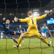 Manchester City goalkeeper Joe Hart saves a shot by Pepe of Real Madrid during the UEFA Champions League match at the Etihad Stadium, Manchester Picture by Russell Hart/Focus Images Ltd 07791 688 420 26/04/2016