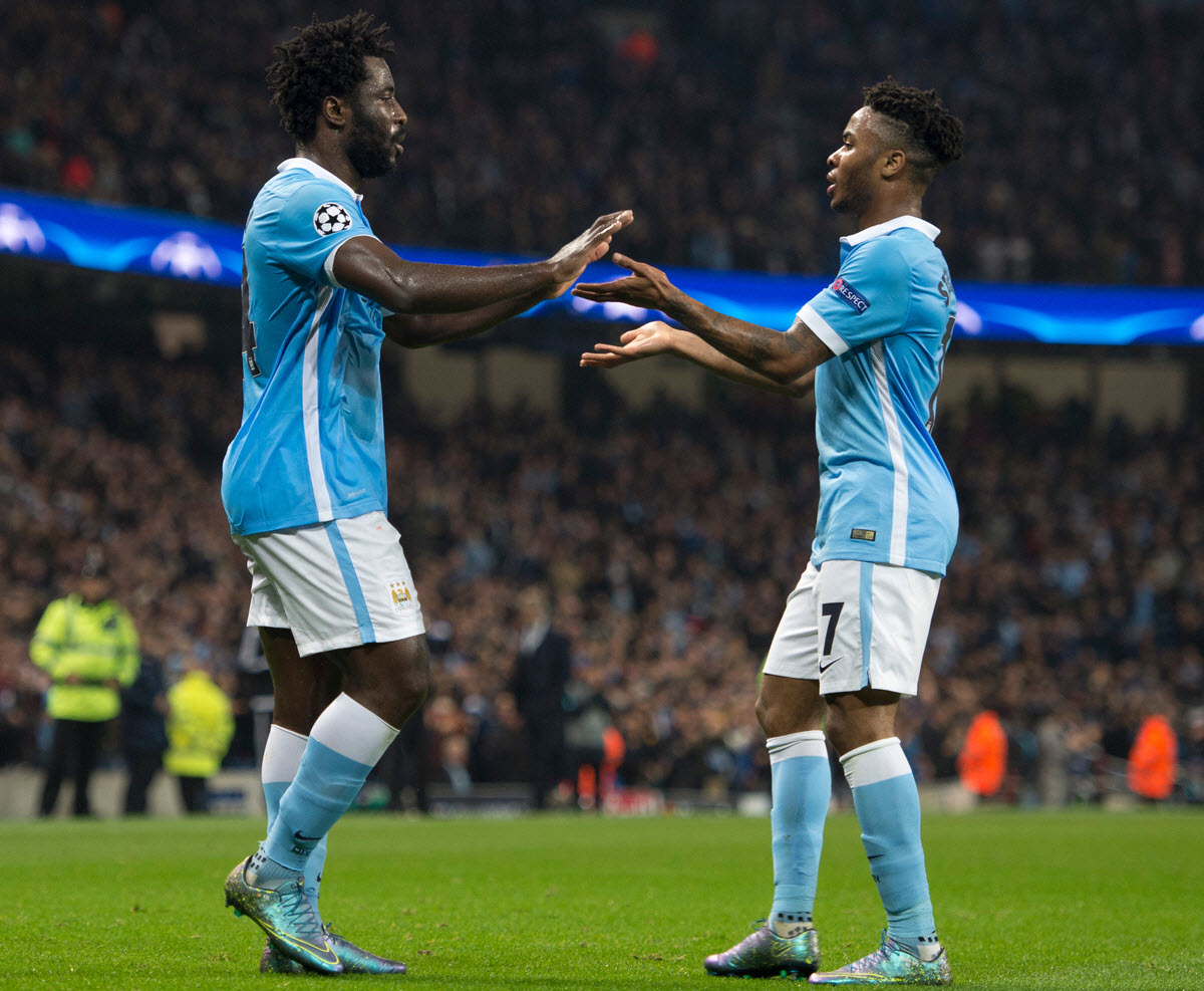 Wilfried Bony Raheem Sterling Manchester City Focus
