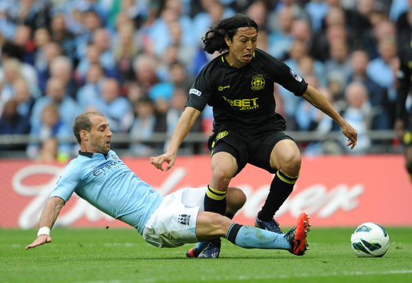 Manchester City v Wigan Athletic Espinoza