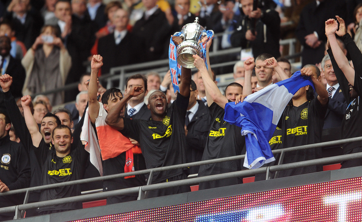Manchester City v Wigan Athletic.The FA Cup Final