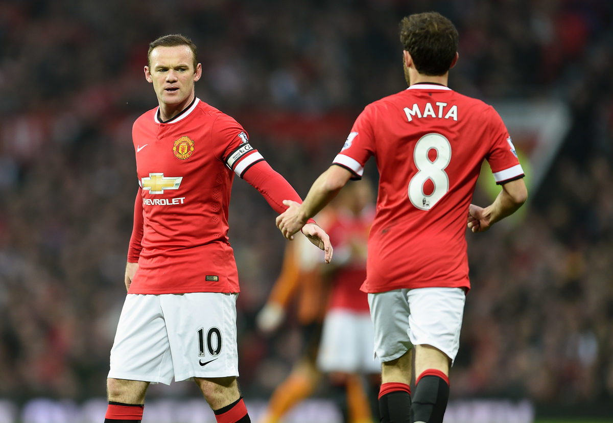 Wayne Rooney & Juan Mata of Manchester United during the Barclays Premier League match against Hull City at Old Trafford, Manchester Picture by Andrew Timms/Focus Images Ltd +44 7917 236526 29/11/2014