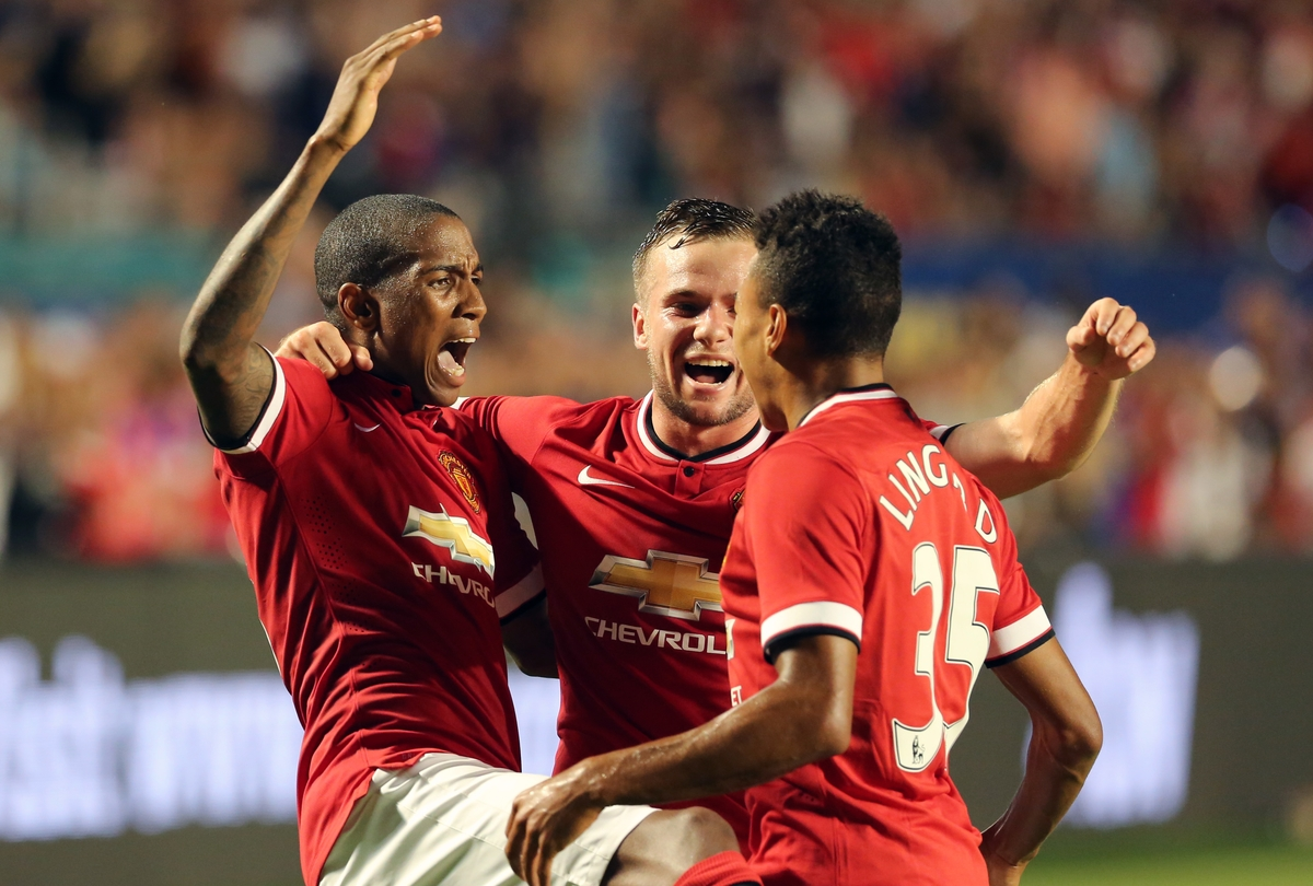 Young Lingard Manchester United Focus