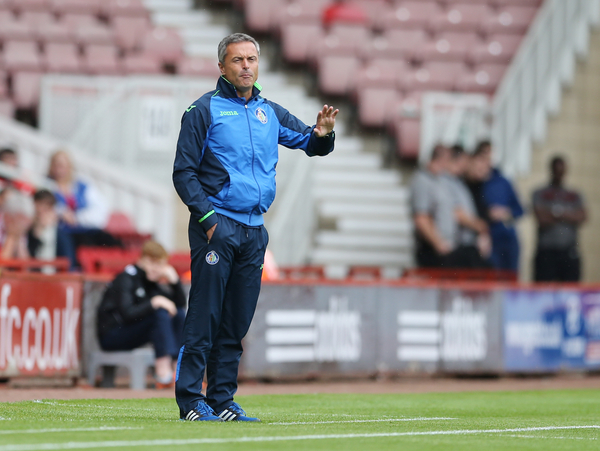 Getafe CF manager Fran Escriba during the pre season friendly match at the Riverside Stadium, Middlesbrough Picture by Simon Moore/Focus Images Ltd 07807 671782 01/08/2015