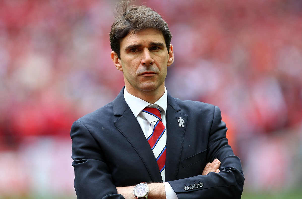 Middlesbrough Manager Aitor Karanka before the Sky Bet Championship Play-off Final at Wembley Stadium, London Picture by Paul Chesterton/Focus Images Ltd +44 7904 640267 25/05/2015