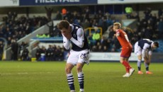 Jed Wallace of Millwall shows his frustration after missing a great chance to score during the Sky Bet League 1 match at The Den, London Picture by Alan Stanford/Focus Images Ltd +44 7915 056117 01/03/2016