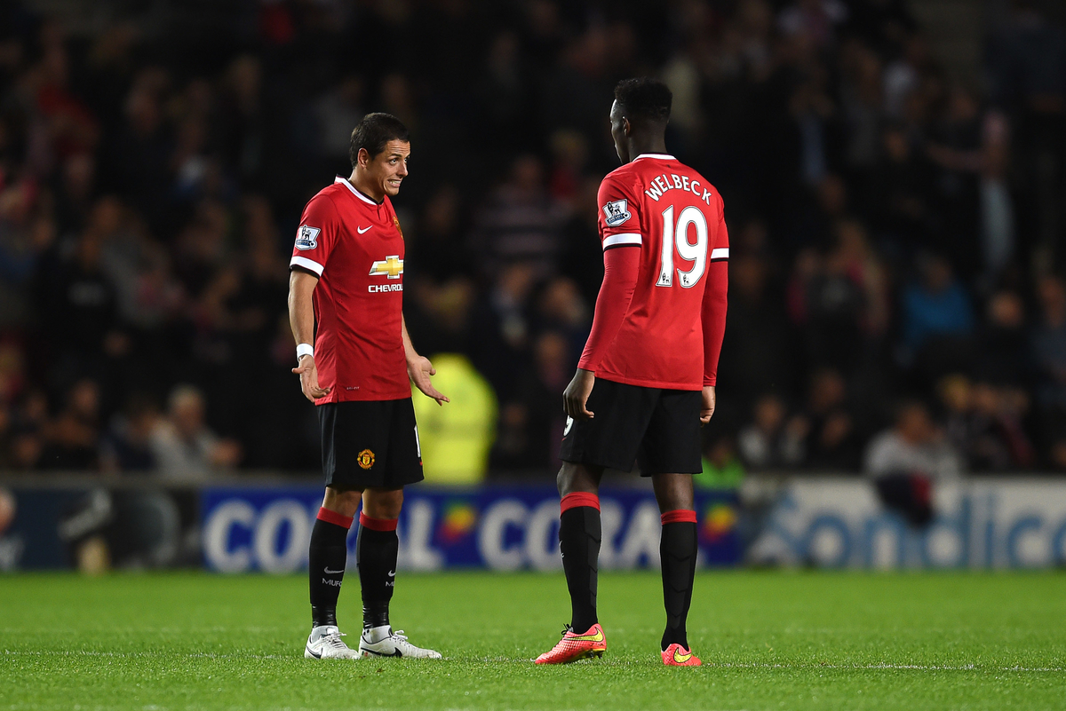 Chicharito Welbeck Manchester United MK Dons Capital One Cup Focus