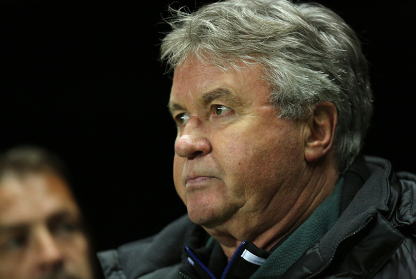 Picture by Paul Gaythorpe/Focus Images Ltd +447771 871632.14/03/2013.Anzhi Makhachkala coach Guus Hiddink during the UEFA Europa League match at St. James's Park, Newcastle.