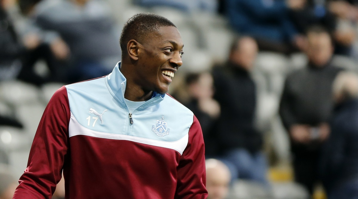 Marvin Sordell of Burnley prior to the Barclays Premier League match at St. James's Park, Newcastle Picture by Simon Moore/Focus Images Ltd 07807 671782 01/01/2015