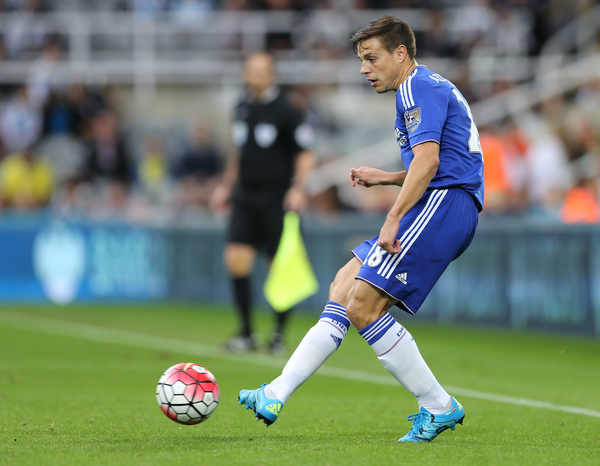 Cesar Azpilicueta of Chelsea during the Barclays Premier League match at St. James's Park, Newcastle Picture by Simon Moore/Focus Images Ltd 07807 671782 26/09/2015