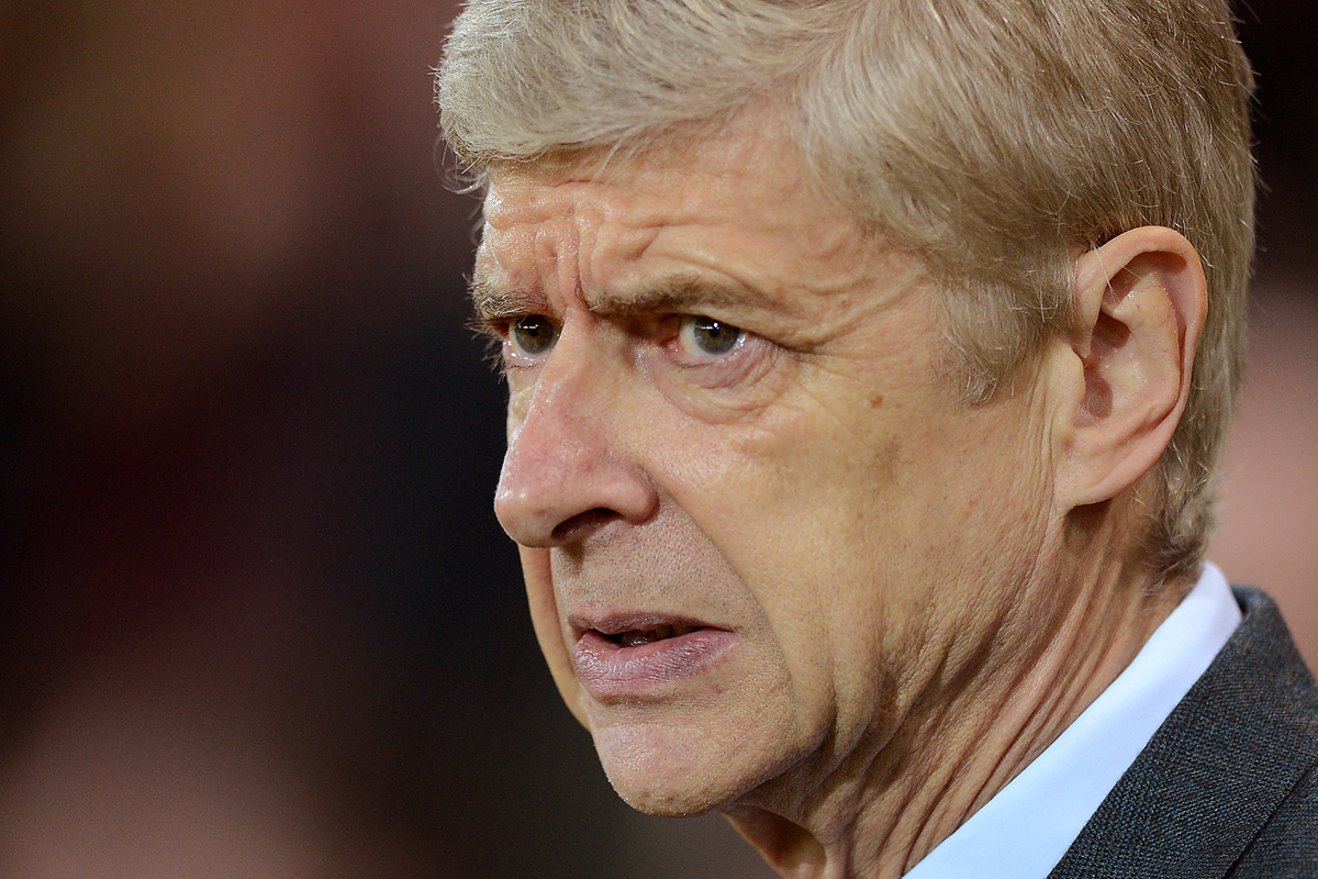 Arsenal Manager Arsene Wenger during the Barclays Premier League match between Norwich City and Arsenal at Carrow Road, Norwich Picture by Richard Blaxall/Focus Images Ltd +44 7853 364624 29/11/2015