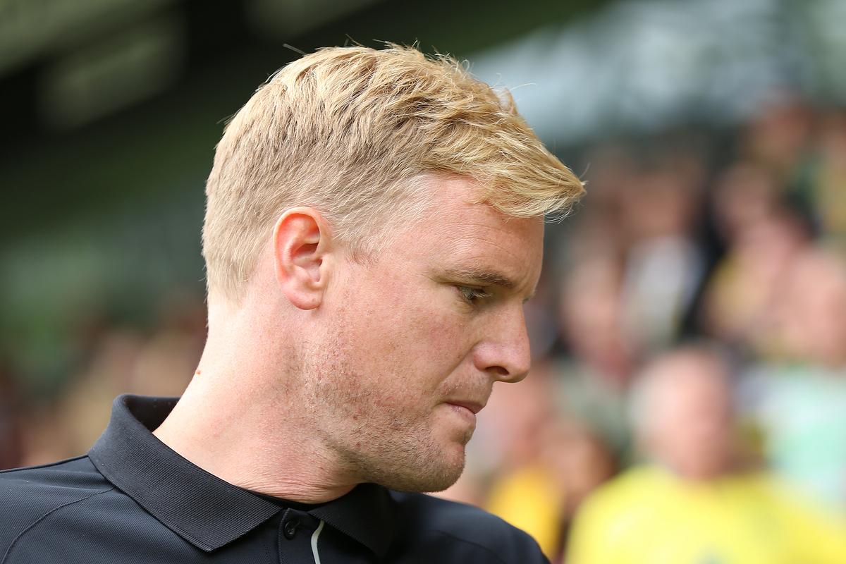 Manager of Bournemouth, Eddie Howe during the Sky Bet Championship match against Norwich City at Carrow Road, Norwich Picture by Richard Calver/Focus Images Ltd +447792 981244 30/08/2014