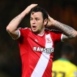 Lee Tomlin of Middlesbrough reacts to a missed chance during the Sky Bet Championship match at Carrow Road, Norwich Picture by Richard Calver/Focus Images Ltd +44 7792 981244 17/04/2015
