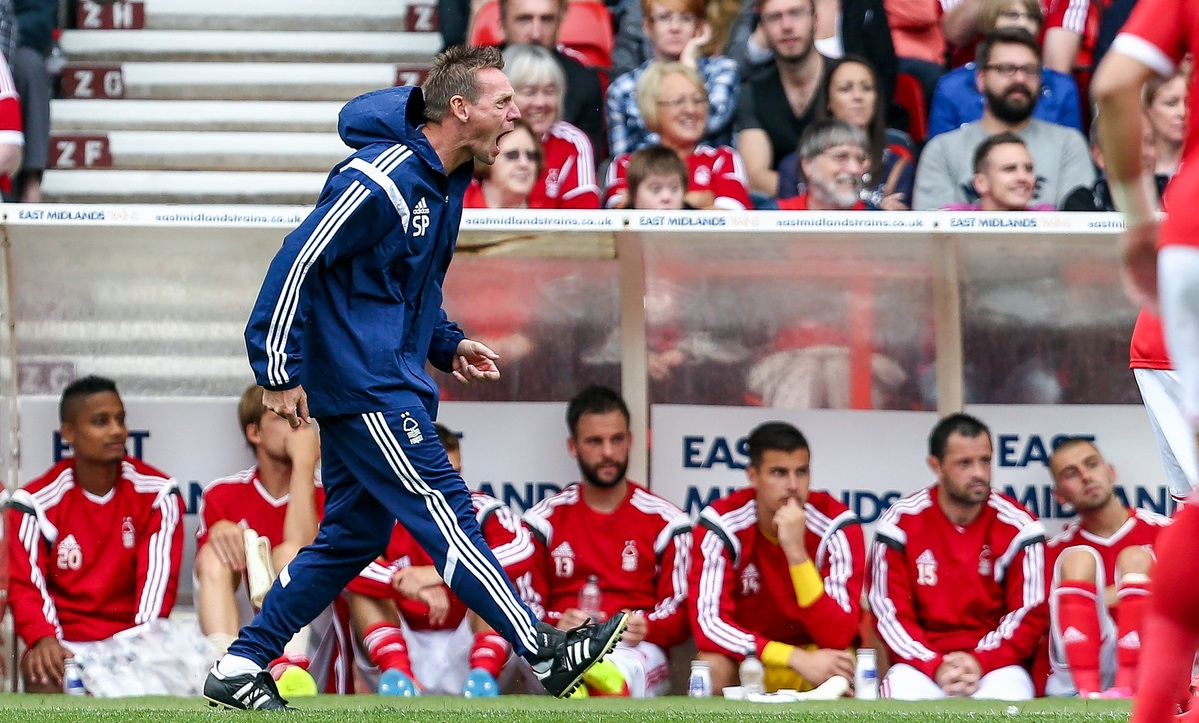 Nottingham Forest manager Stuart Pearce getting his point across during the pre season friendly match at the City Ground, Nottingham Picture by Andy Kearns/Focus Images Ltd 0781 864 4264 02/08/2014