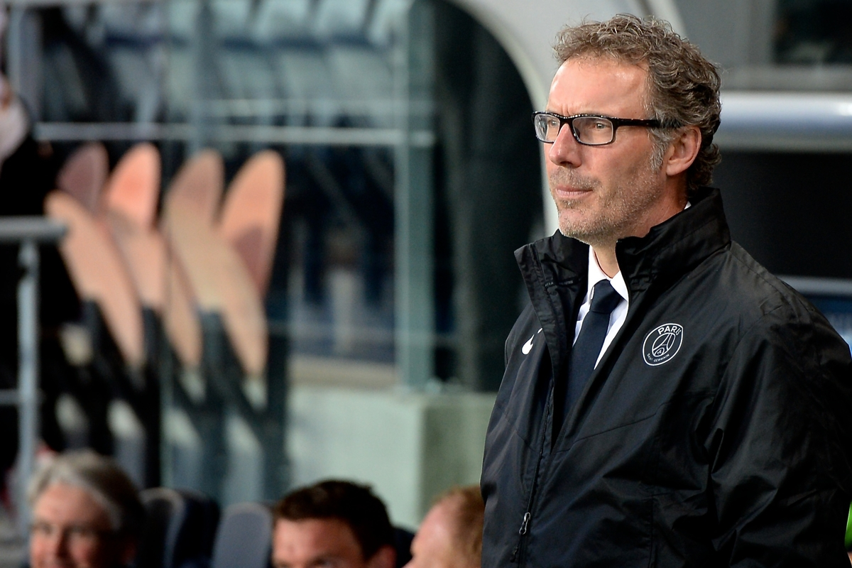 Paris St-Germain manager Laurent Blanc pictured ahead of the UEFA Champions League Quarter-final match at Parc des Princes, Paris Picture by Ian Wadkins/Focus Images Ltd +44 7877 568959 15/04/2015