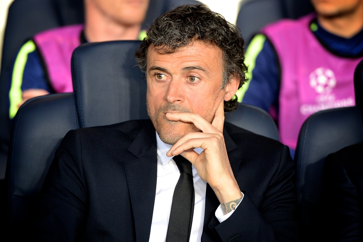 FC Barcelona manager Luis Enrique pictured ahead of the UEFA Champions League Quarter-final match at Parc des Princes, Paris Picture by Ian Wadkins/Focus Images Ltd +44 7877 568959 15/04/2015