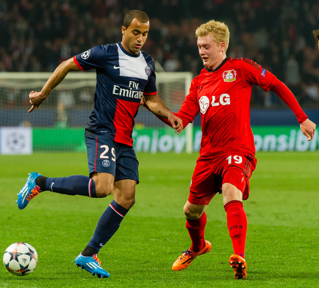 Paris Saint-Germain v Bayer LeverkusenUEFA Champions League Julian Brandt