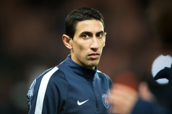 Foer Manchester United palyer Angel Di Maria of Paris Saint-Germain warms up before the UEFA Champions League match at Parc des Princes, Paris Picture by Russell Hart/Focus Images Ltd 07791 688 420 16/02/2016
