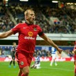 Jordan Rhodes of Blackburn Rovers celebrates scoring his side's 2nd goal to take the lead at 1-2 during the Sky Bet Championship match at the Loftus Road Stadium, London Picture by Alan Stanford/Focus Images Ltd +44 7915 056117 16/09/2015