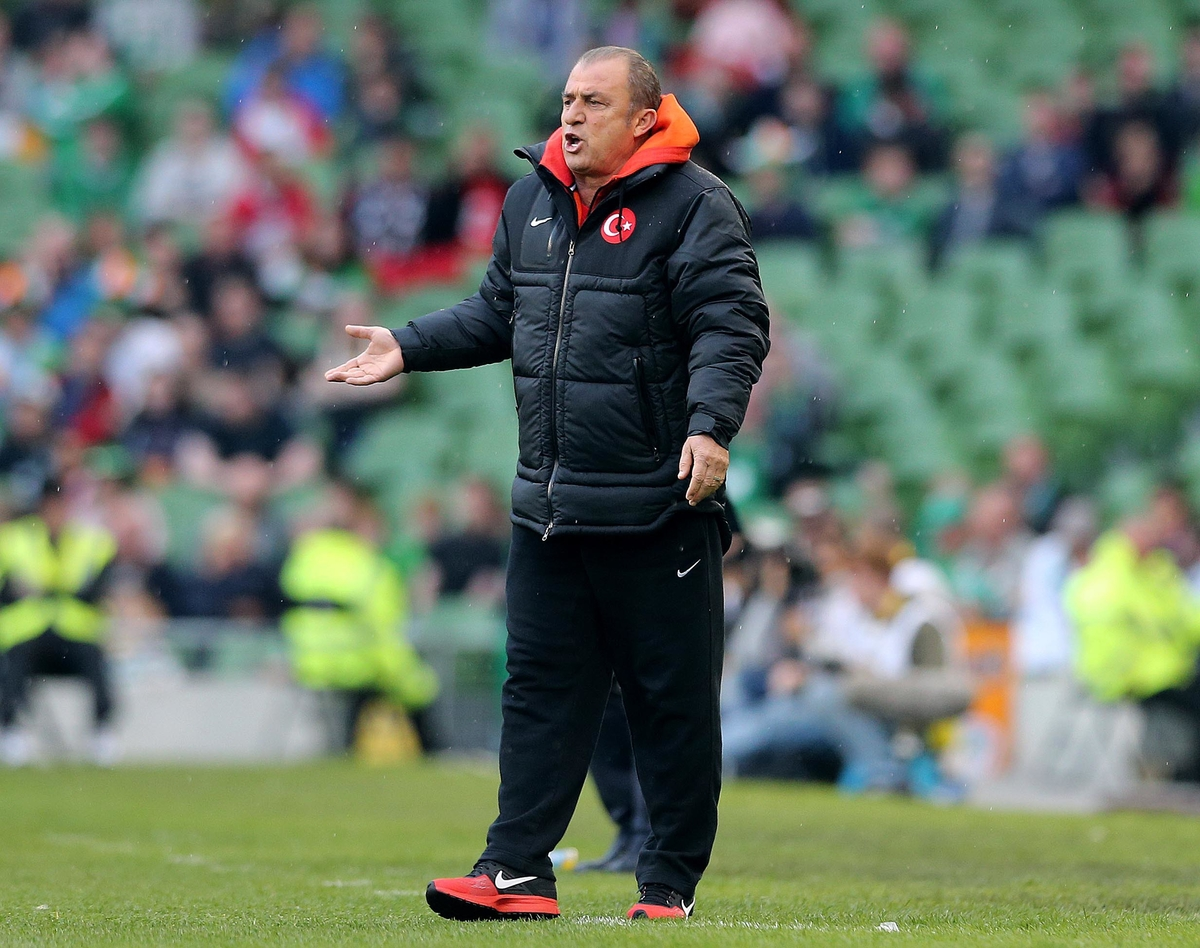 Fatih Terim of Turkey during the International Friendly match at the Aviva Stadium, Dublin Picture by Lorraine O'Sullivan/Focus Images Ltd +353 872341584 25/05/2014