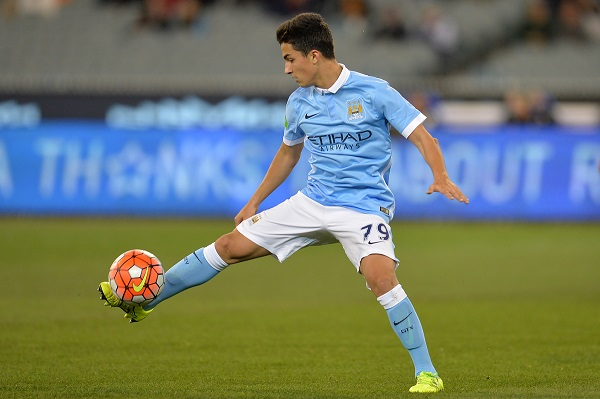 Manu Garcia of Manchester City controls the ball during the International Champions Cup match at Melbourne Cricket Ground, Melbourne Picture by Frank Khamees/Focus Images Ltd +61 431 119 134 21/07/2015