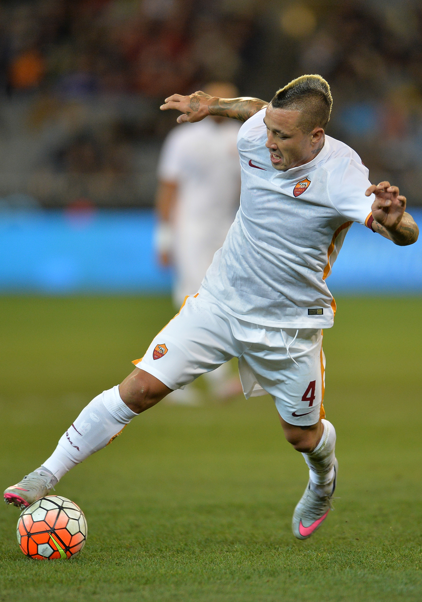 Radja Nainggolan of Roma controls the ball during the International Champions Cup match at Melbourne Cricket Ground, Melbourne Picture by Frank Khamees/Focus Images Ltd +61 431 119 134 21/07/2015