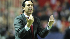 Unai Emery, head coach of Sevilla during the UEFA Champions League match at Ramon Sanchez Pizjuan Stadium, Seville Picture by Stefano Gnech/Focus Images Ltd +39 333 1641678 08/12/2015