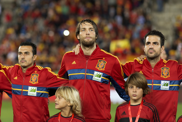"Picture by Cristian Trujillo/Focus Images Ltd +34 64958 5571 11/10/2013 ""Michu"" of Spain during the 2014 FIFA World Cup Qualifying match at Iberostar Stadium, Palma."